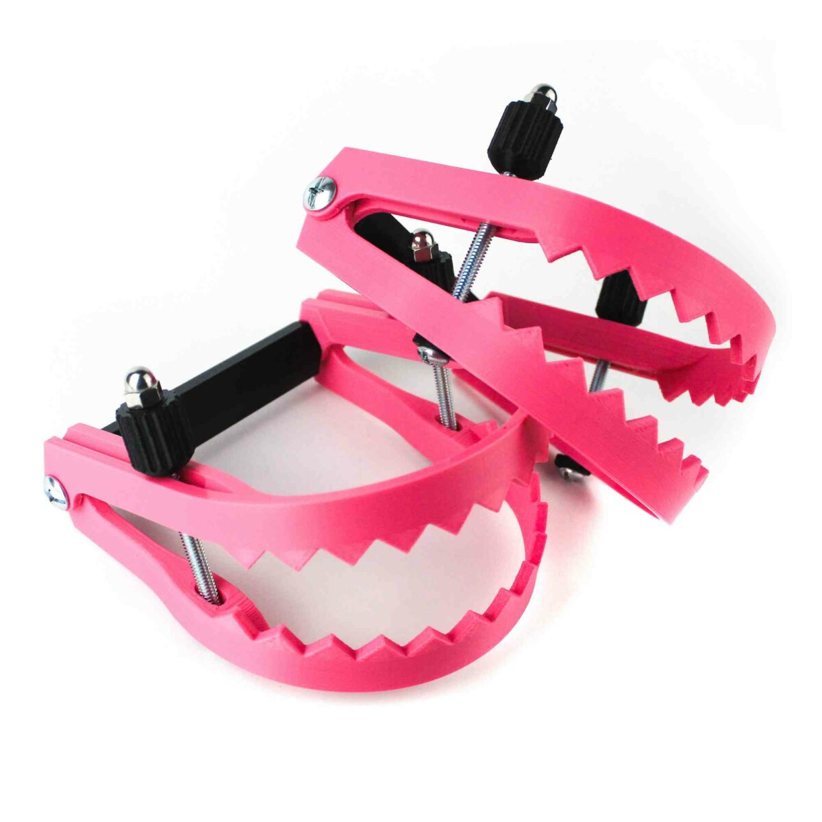 Breast Traps, the bear trap shaped breast crusher, also known as breast vices or breast vises, if you're a stickler about spelling. We've also heard it called a breast press too.